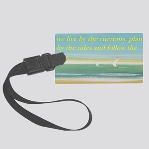 The beach Large Luggage Tag