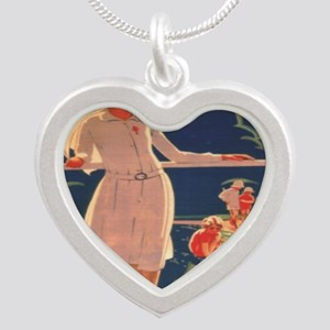 French TB fund raising poste Silver Heart Necklace
