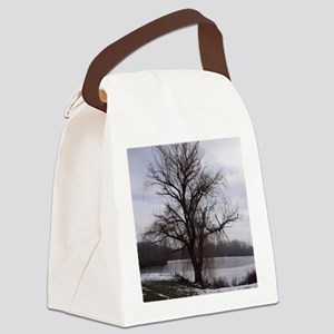 Peaceful Willow Tree Canvas Lunch Bag