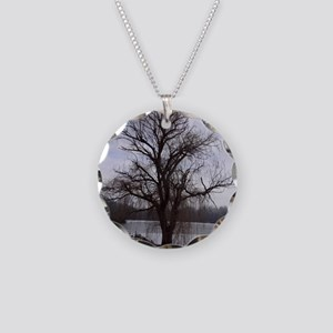 Peaceful Willow Tree Necklace Circle Charm
