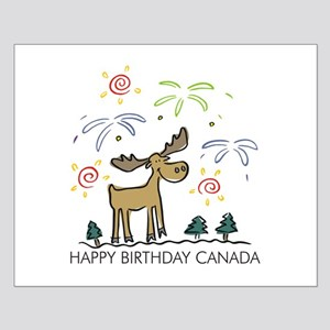 Happy Birthday Canada! Small Poster