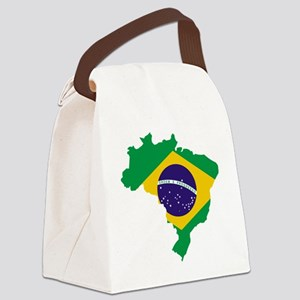 Brasil Flag Map Canvas Lunch Bag