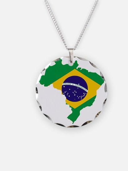 Brasil Flag Map Necklace