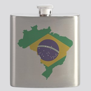 Brasil Flag Map Flask