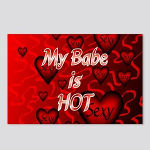 my babe is hot shirt fron Postcards (Package of 8)