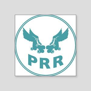 "PRR Sm teal Square Sticker 3"" x 3"""