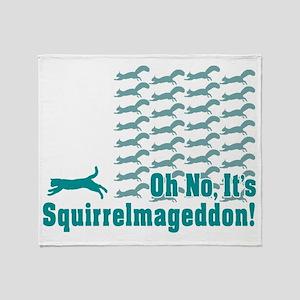 Squirrelmageddon Throw Blanket