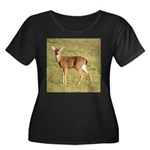 Forked Horn Buck Women's Plus Size Scoop Neck Dark
