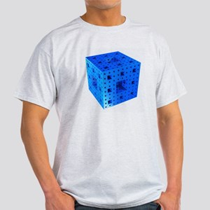 Blue Menger sponge fractal Light T-Shirt