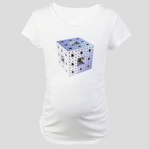 Silver Menger sponge fractal Maternity T-Shirt