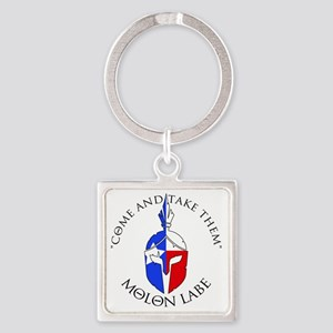 2nd Amend Logo Square Keychain