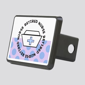 retired nurse I Rectangular Hitch Cover