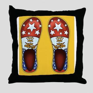 Clown Shoes II Throw Pillow