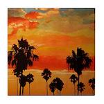 Mission Beach Sunset Tile Coaster