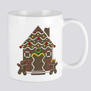 Cute Gingerbread House Mugs
