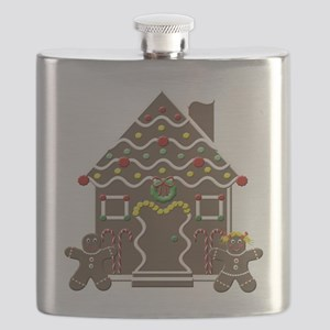 Cute Gingerbread House Flask