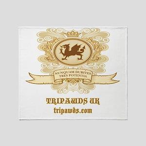 Tripawds UK Dragon Throw Blanket
