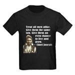Treat all men alike Kids Dark T-Shirt