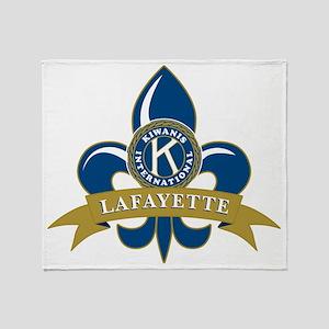 Lafayette Kiwanis Club Logo Throw Blanket