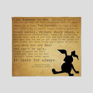 Velveteen Rabbit Print Throw Blanket
