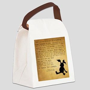 Velveteen Rabbit Print Canvas Lunch Bag