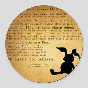 Velveteen Rabbit Print Round Car Magnet