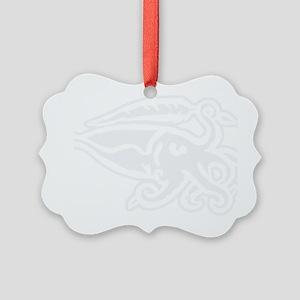 White Cuttlefish Picture Ornament