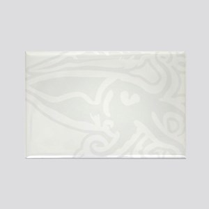 White Cuttlefish Rectangle Magnet