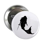 Fencing Mermaid Button