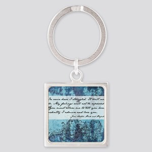 Pride and Prejudice Quote Square Keychain