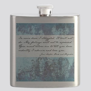 Pride and Prejudice Quote Flask