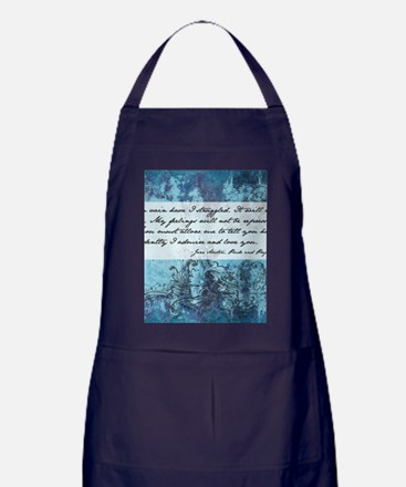 Pride and Prejudice Quote Apron (dark)