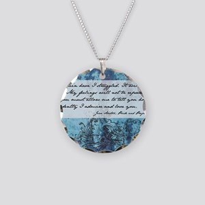 Pride and Prejudice Quote Necklace Circle Charm