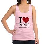 I Heart Parks Racerback Tank Top