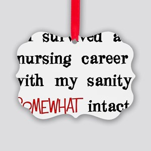 retired nurse t-shirts sanity int Picture Ornament