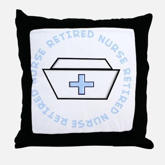 retired nurse t-shirt darks Throw Pillow