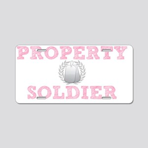 Property of my Soldier Aluminum License Plate
