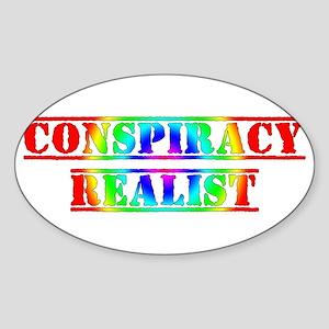 Conspiracy Theorist Hippie Sticker