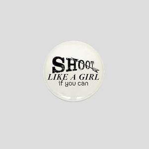 Shoot Like A Girl Archery Mini Button