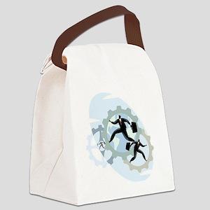 Men Spinning Wheels Canvas Lunch Bag