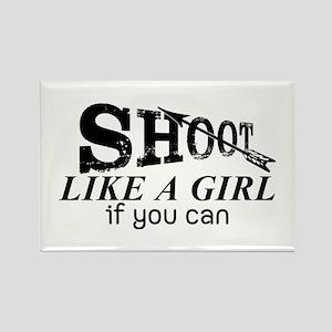 Shoot Like A Girl Archery Magnets