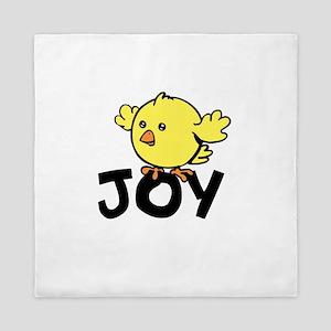 Cute Funny Joy Chick Queen Duvet