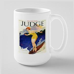 Vintage Woman Surfer Sh Stainless Steel Travel Mug