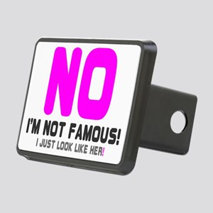 NO IM NOT FAMOUS! -  I JUS Rectangular Hitch Cover