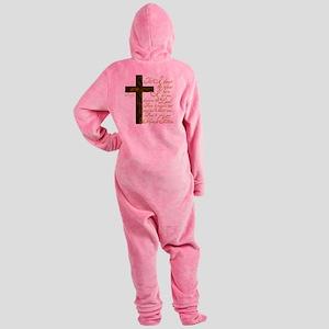 Plan of God Jeremiah 29:11 Footed Pajamas