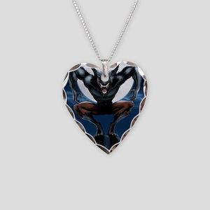 Werewolf Necklace Heart Charm