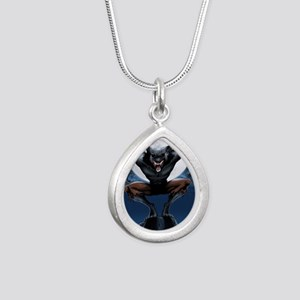 Werewolf Silver Teardrop Necklace
