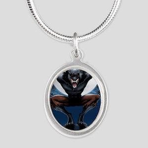 Werewolf Silver Oval Necklace
