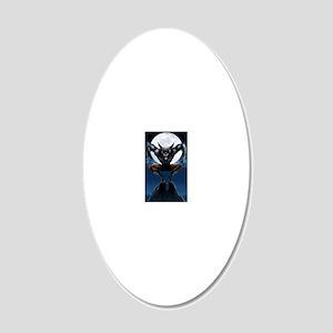 Werewolf 20x12 Oval Wall Decal