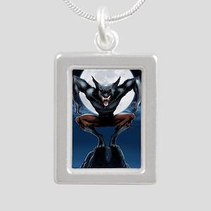 Werewolf Silver Portrait Necklace